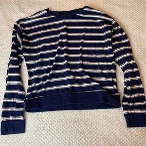 Navy and White Long Sleeve Tee